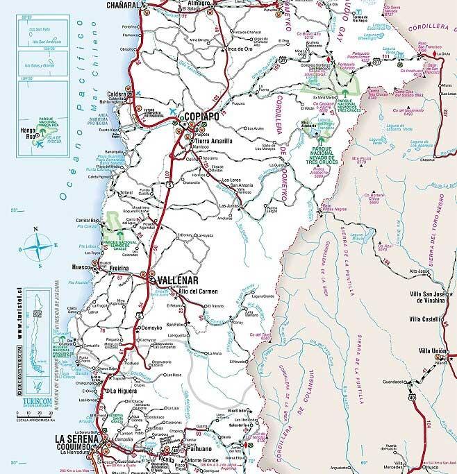 mapa La Serena Norte